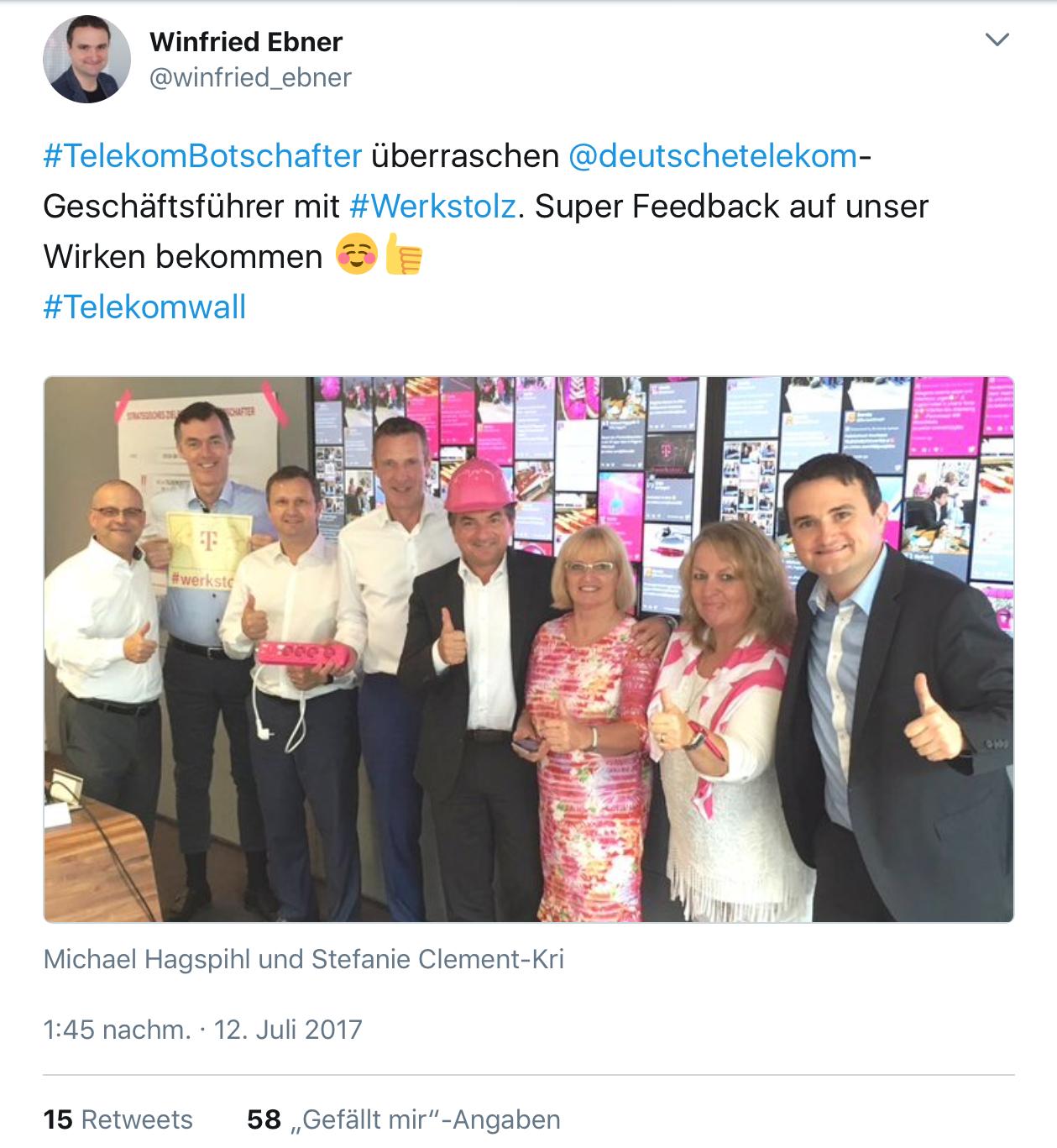 Menschennetzwerk #Werkstolz: Vier Telekom Botschafter-Geschichten
